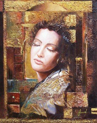 Sinisa Saratlic: 'Because you Are Beautiful', 2007 Other Painting, Portrait.   acrylic painting on canvas , mixed- media ...