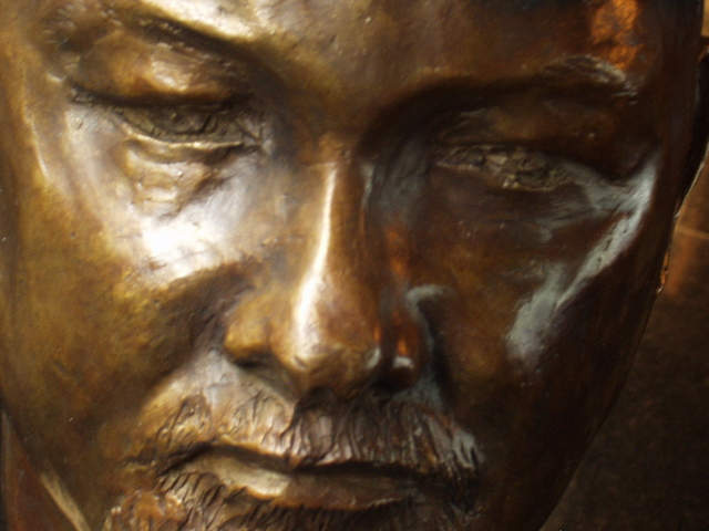 Morris Docktor  'BRONZE PORTRAIT', created in 2010, Original Painting Acrylic.