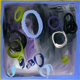 Artist: Suzanne Jacquot - Title: Circles on Grey - Medium: Acrylic Painting - Year: 2006