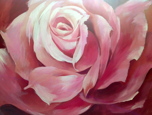 Artist Barbara Brodele . 'Rose' Artwork Image, Created in 2012, Original Pastel. #art #artist