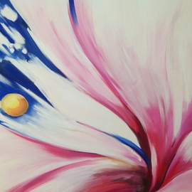 Barbara Brodele  Artwork abstraction, 2012 Oil Painting, Floral