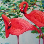 Curious Birds JESS and LORRAINE By Sharon Nelsonbianco