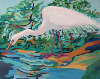 Sharon Nelsonbianco Artwork Curious Birds SAM, 2014 Acrylic Painting, Wildlife