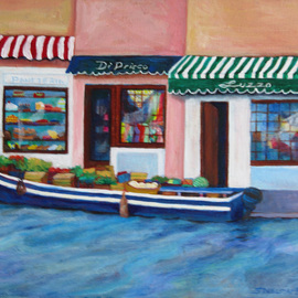 Venice Canal Produce Boat By Sharon Nelsonbianco
