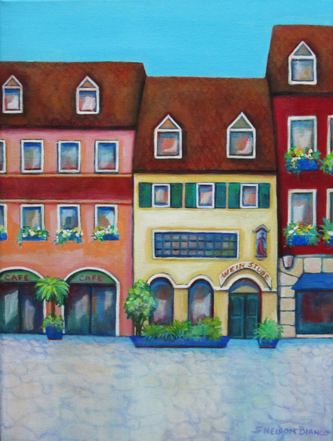Sharon Nelsonbianco  'Weinstube Germany', created in 2014, Original Painting Acrylic.