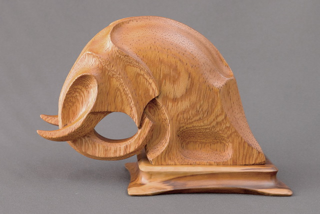 Sergey Chechenov: Elephant, 2014 Wood Sculpture
