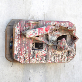Stefan Van Der Ende: 'Still Lifie', 1998 Mixed Media Sculpture, Abstract Figurative. Artist Description:  wood/ wooden meccano 1964/ Coral/ epoxy paint / polyester fabric / part of wool dress                             ...