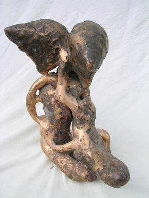 Stefan Van Der Ende: 'fishlungshoe', 2002 Bronze Sculpture, Abstract Figurative. There is and will be only one copy made of this sculpture...