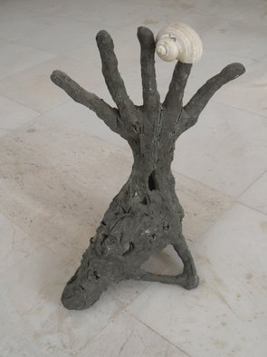 Stefan Van Der Ende: 'handshoenimal', 2002 Bronze Sculpture, Abstract Figurative.  unica bronze        ...