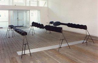 Wood Sculpture by Stefan Van Der Ende titled: landscape, 1994