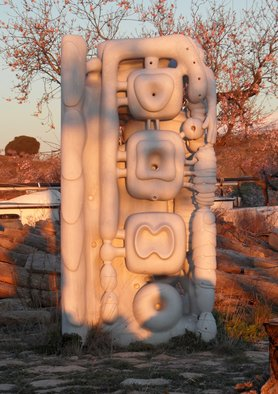 Stefan Van Der Ende: 'marble view 6', 2012 Stone Sculpture, Abstract. Artist Description:  Bianco Pi marble associative abstract transparantclosed open sides culture                            ...