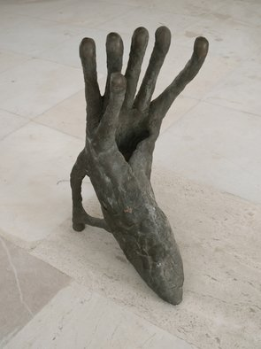 Bronze Sculpture by Stefan Van Der Ende titled: shoehandimal, 2002