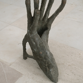 Stefan Van Der Ende: 'shoehandimal', 2002 Bronze Sculpture, Abstract Figurative. Artist Description:   unica bronze         ...