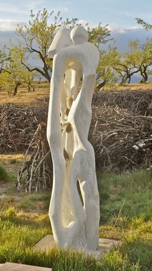 Stefan Van Der Ende: 'standing 2', 1987 Stone Sculpture, Abstract Figurative. Artist Description:  carrara standing snake carrying marble bronze                              ...
