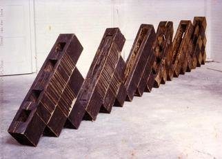 Stefan Van Der Ende: 'whithout title', 1987 Wood Sculpture, Abstract.