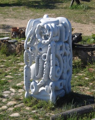 Stefan Van Der Ende: 'without title', 2002 Stone Sculpture, Abstract.
