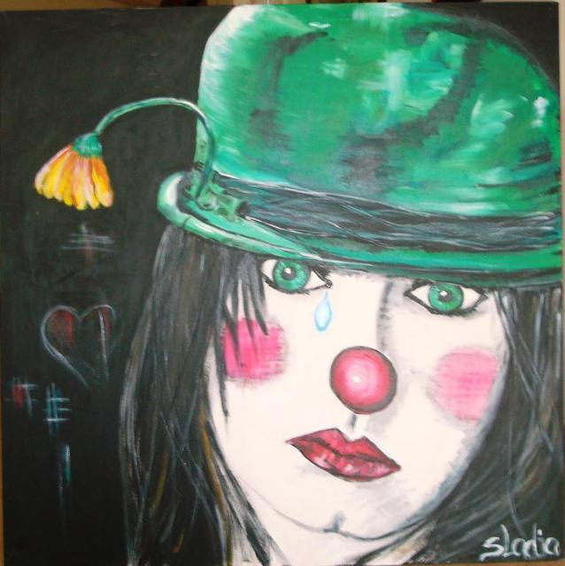 Sladjana Endt  'ANSICHTEN EINES CLOWNS', created in 2010, Original Painting Oil.