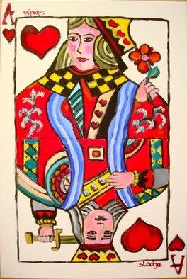 Artist: Sladjana Endt - Title: winning love card - Medium: Acrylic Painting - Year: 2010
