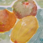 Three Fruits By Sandra Laidley