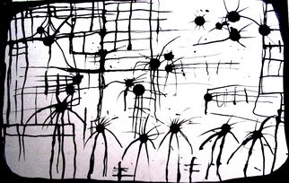 Anna Possinger: 'dancers', 2008 Ink Painting, Abstract. Artist Description:  i love the dancers 2. 6 ...