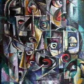 Slobodan Dimitrijevic Artwork Maske , 2007 Oil Painting, Mask