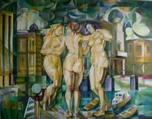 - artwork Tri_Gracije-1235305611.jpg - 2008, Painting Oil, Figurative