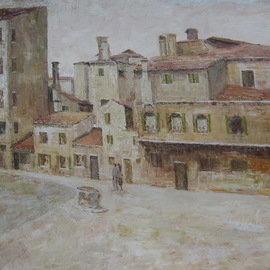 Slobodan Paunovic: 'il campo della maddalena v1930', 2017 Acrylic Painting, Cityscape. Artist Description: paintings, impressionism, acril, canvas, love, cityscape, places, travel, ...