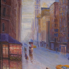 Slobodan Paunovic: 'on broadway nyc', 2017 Acrylic Painting, Cityscape. Artist Description: OriginalI was inspired by that motif as an my expirienceI hope that the viewers will feel that...