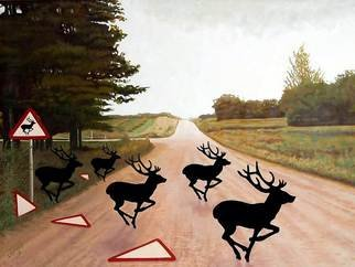 Steven Lynch Artwork Escape the Rut, 2010 Oil Painting, Animals
