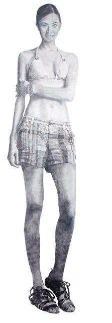 Steven Lynch  'Woman Full Length Sketch', created in 2008, Original Drawing Pencil.