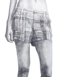 Steven Lynch Artwork Woman Full Length sketch, 2008 Pencil Drawing, Figurative