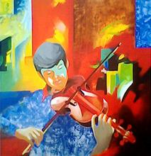 - artwork violin-1308128961.jpg - 2010, Painting Acrylic, Figurative