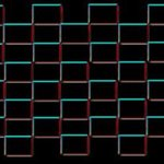 Black Red and Blue Squares 1 By Simone Maxwell