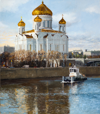Artist: Mikhail Kovalev - Title: Cold Water - Medium: Oil Painting - Year: 2015