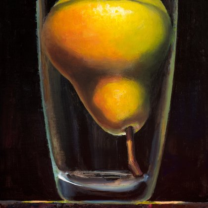 , Pear In Glass, Still Life, $262