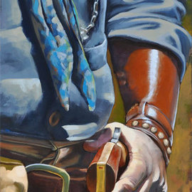 Steve Miller: 'Price of Peace', 2010 Oil Painting, Western. Artist Description:   Western gun gunfighter gun slinger colt fourty five hand gun gunfight quickdraw quick draw ...