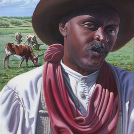 Steve Miller: 'The Image Bearer', 2006 Oil Painting, Western.