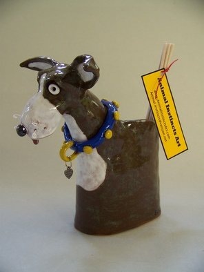 Suzanne Noll Artwork Brown and White Dog Pil Reed Diffuser Item V1076, 2011 Mixed Media, Dogs