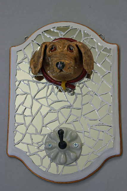 Suzanne Noll  'Golden Lab Leash Holder LH1159', created in 2012, Original Ceramics Other.