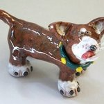 Gunner Small Dog Sculpture, Suzanne Noll