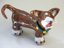 - artwork Gunner_Small_Dog_Sculpture-1290882022.jpg - 2010, Ceramics Handbuilt, Figurative