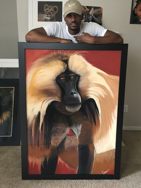 Antonio Snow  'Gelada Monkey', created in 2018, Original Pastel.