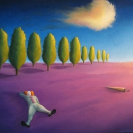 Stephen Schrimpf Artwork Clown Dream, 2011 Oil Painting, Surrealism