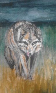 Sofia-maria Klein: 'woelfin', 2018 Other Painting, Animals. Artist Description: Aquarelle Pencil on Paper...