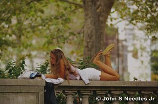 Color Photograph by John Needles titled: Rittenhouse Square READING, created in 2008