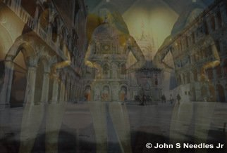 John Needles: 'VENICE Three Graces', 2007 Color Photograph, Travel.  VENICE ITALY A local sculpture inspired me to create this work. I am still looking for the artist to give them credit. Created from 2 35mm Velvis slides and manipulated in photoshop to my desired end. ...