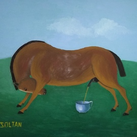 Soltan Soltanli Artwork The well bred horse, 2016 Oil Painting, Surrealism