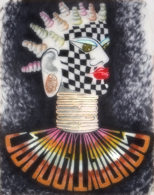 Jayne Somogy  'Afri Can I', created in 2019, Original Drawing Pastel.