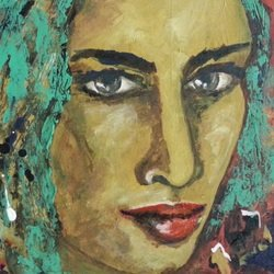 , City Girl, Abstract Figurative, $310
