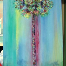 Colorful Palm Tree  By Sophia Stucki